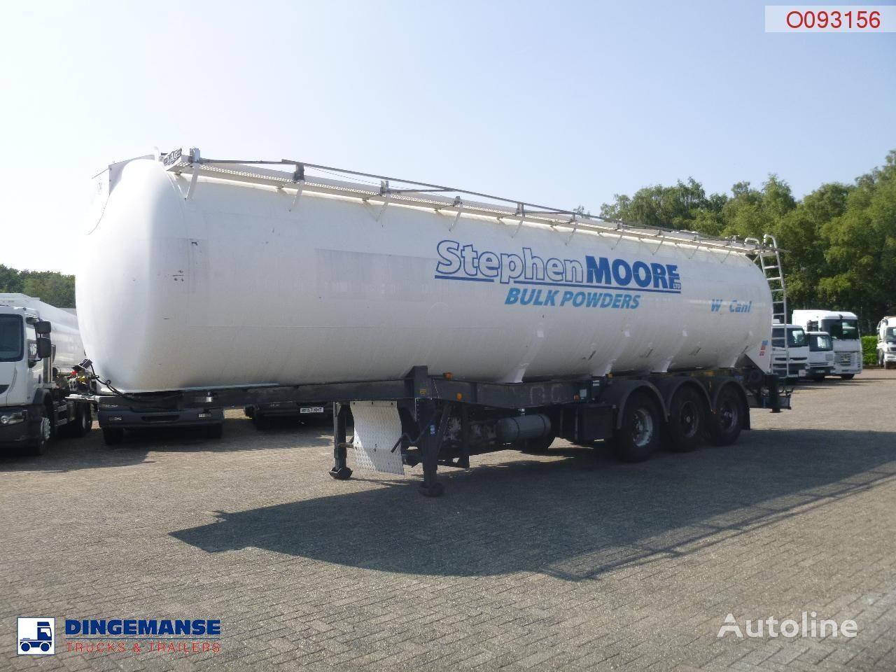 LAG Powder tank alu 58.5 m3 / 1 comp + compressor cisterna silos