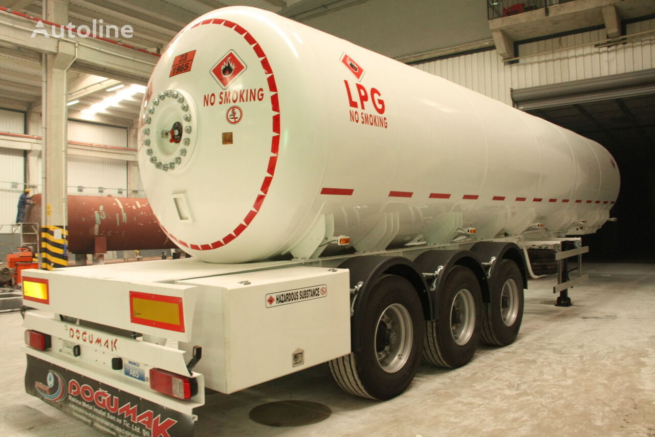 nova DOĞUMAK 45 CBM SEMI TRAILER FOR TRANSPORTATION LIQUIFIED PETROLEUM GAS cisterna za gas