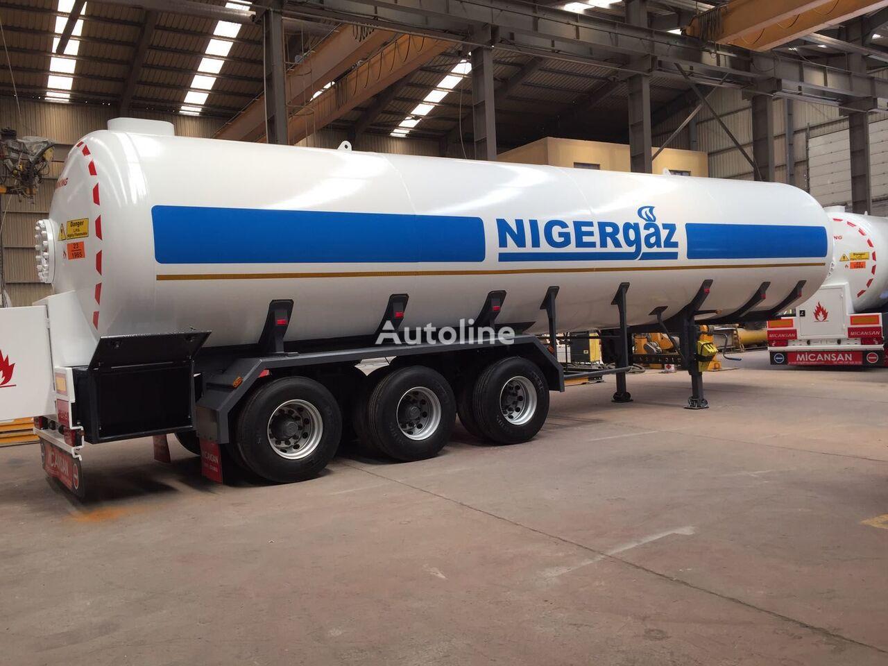 nova Micansan BIG DISCOUNT 2019 57 M3 SPECIAL 2 AXLE BOGGIE+ 1 AXLE SPRING LEA cisterna za gas