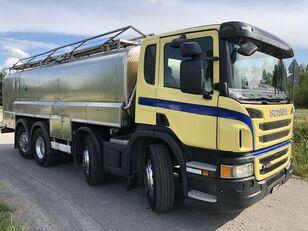 SCANIA P 400 KM 8x2 Beczka Do Mleka Sprowadzona Ze Szwajcarii autocisterna za mlijeko