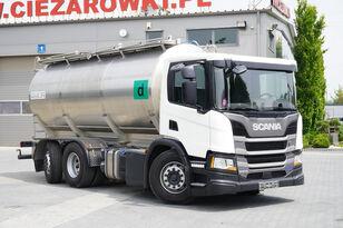 SCANIA P410 , E6 , 6X2 , 20.000km ! ! ! , 2 units , steer/lift axle , 3 autocisterna za mlijeko