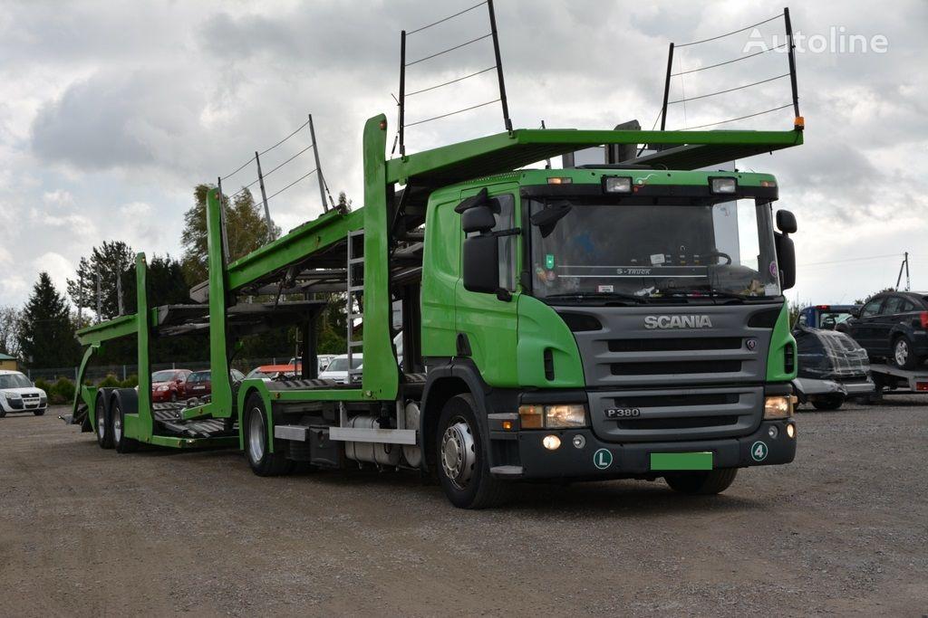 SCANIA P 380 autotransporter + prikolica autotransportera