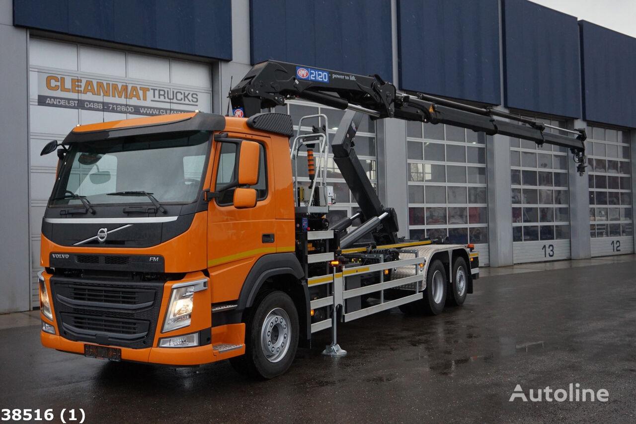 VOLVO FM 410 Euro 6 HMF 21 ton/meter laadkraan kamion rol kiper