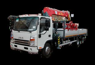 novi JAC Бортовой автомобиль с КМУ FG-414 kamion s ravnom platformom