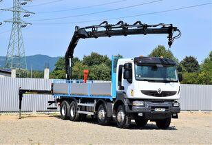RENAULT Kerax 430 DXI* HIAB166 DS - 4HIDUO/FUNK * 8x4  kamion s ravnom platformom