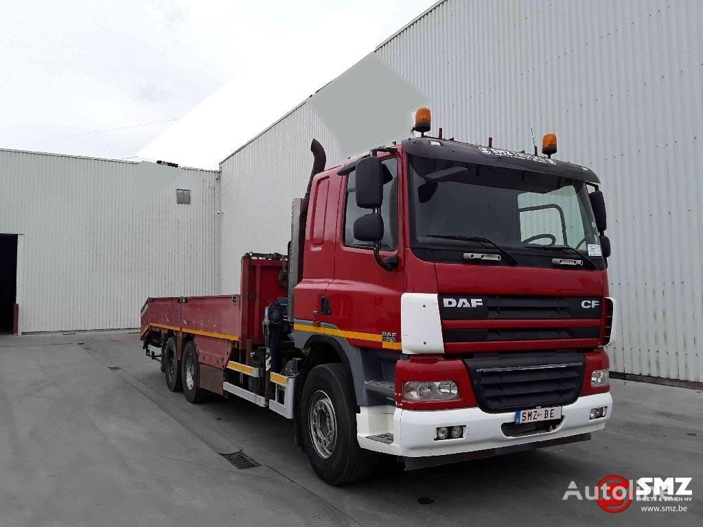 DAF 85 CF 410 6x4 +cormach 34000E top kamion s ravnom platformom