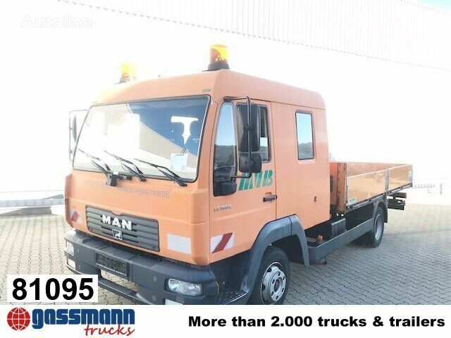 MAN LE 8.185 LC Doka 4x2 BB LE 8.185 LC Doka 4x2 BB, 2x AHK kamion s ravnom platformom