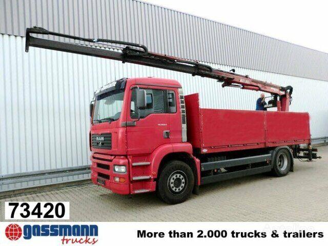 MAN TGA 18.360 mit Kran ATLAS 125.1 Klima/NSW kamion s ravnom platformom