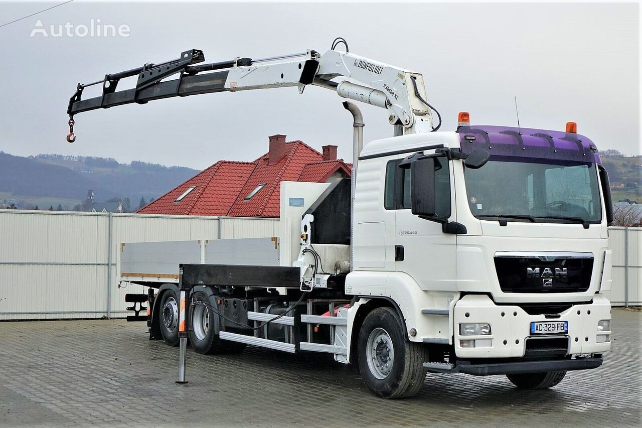 MAN TGS 26.440  kamion s ravnom platformom