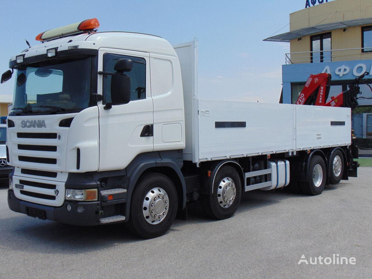 SCANIA R 500 8X2 kamion s ravnom platformom