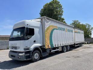 RENAULT Premium 420 kamion sa kliznom ceradom + prikolica sa kliznim ceradom