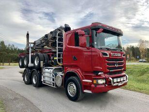 SCANIA R 730 V8 6x4 Dzwig LOGLIFT 251S Do Drewna KOMPLET kamion za prijevoz drva