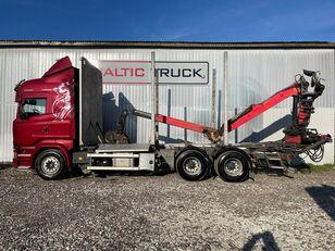 SCANIA R580, 6x4 + CRANE, EURO6, RETARDER kamion za prijevoz drva
