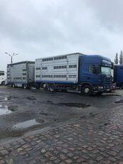 SCANIA 124-420 kamion za prijevoz stoke + prikolica za prijevoz stoke