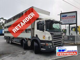 SCANIA P 420cv 8x2 trans. De gado 2012 retarder  kamion za prijevoz stoke