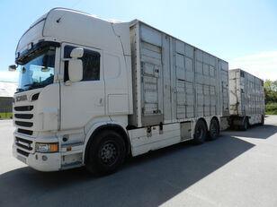 SCANIA R560 kamion za prijevoz stoke + prikolica za prijevoz stoke