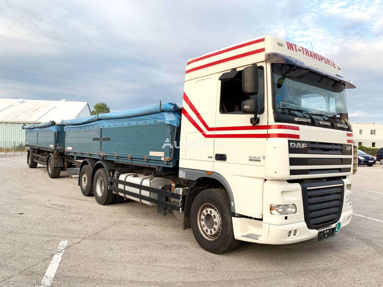 DAF XF105.460 3-Seiten GETREIDEKIPPER + 2 Achs Kipp-Anhänger kamion za prijevoz zrna + prikolica za prijevoz zrna