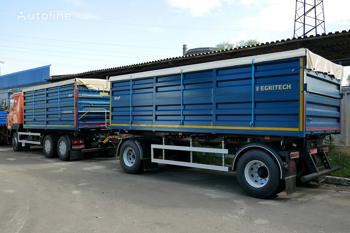 novi EGRITECH ASPS 1424 na bazi shasi MAZ MAZ-6501S5 kamion za prijevoz zrna + prikolica za prijevoz zrna