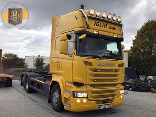 SCANIA R450 vozilo za prijevoz kontejnera