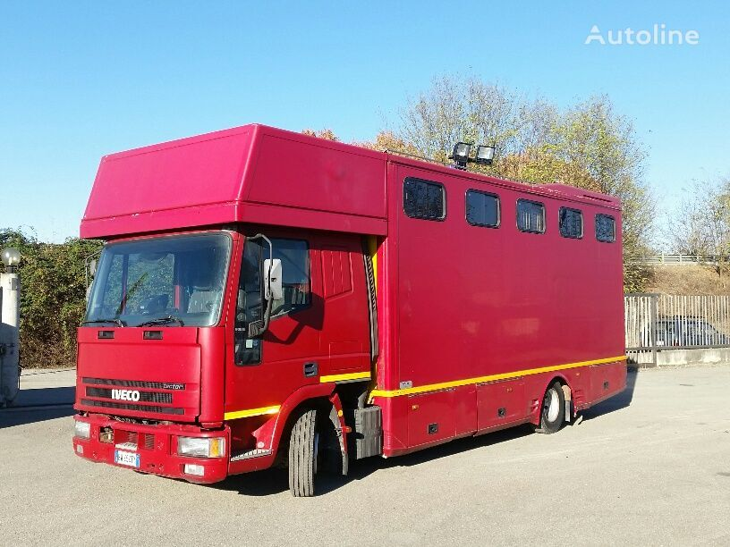IVECO EUROCARGO 90E18P CAVALLI RAMPA POST+LATERALE kamion za prijevoz konja