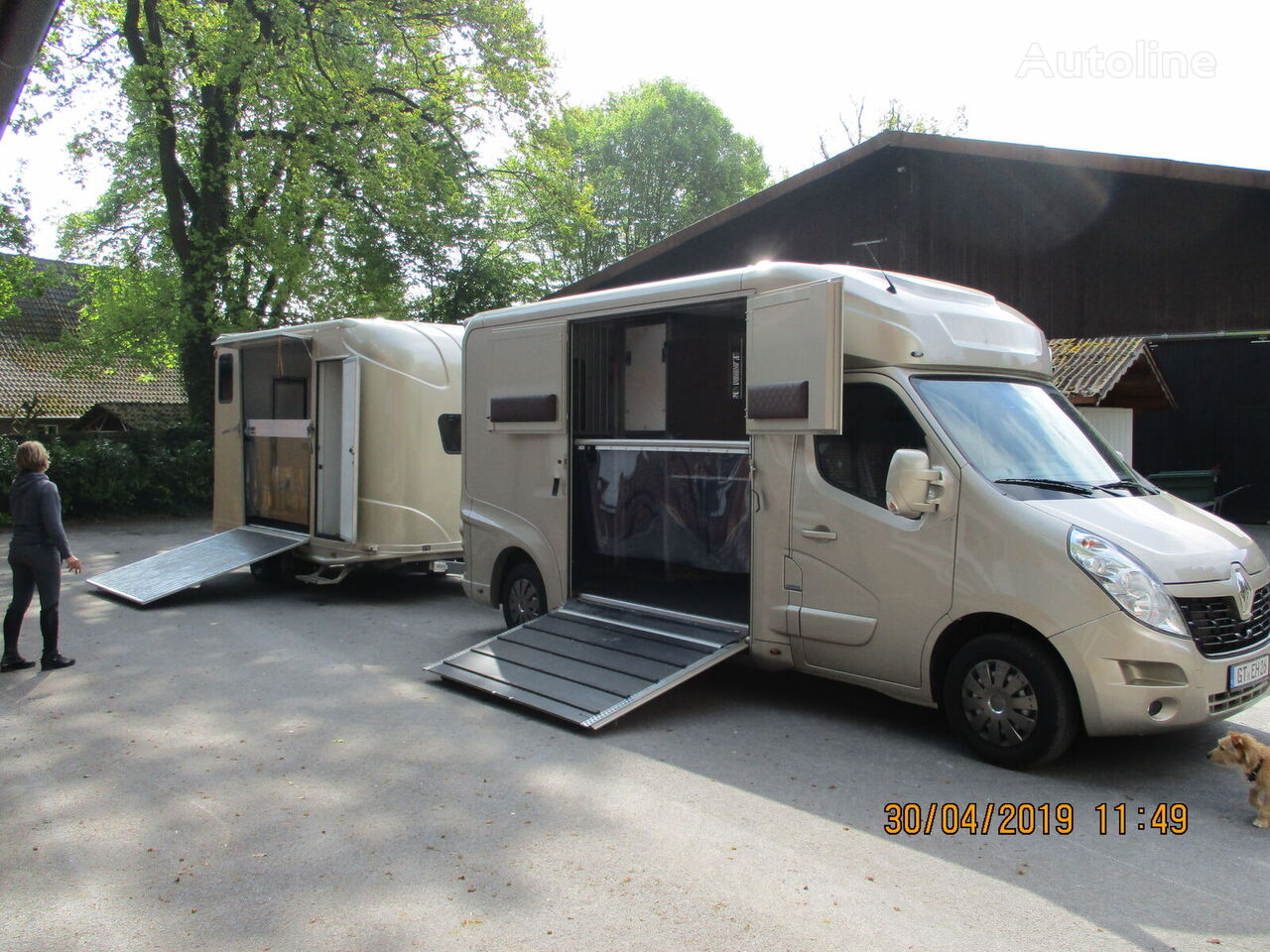 novi RENAULT Master kamion za prijevoz konja