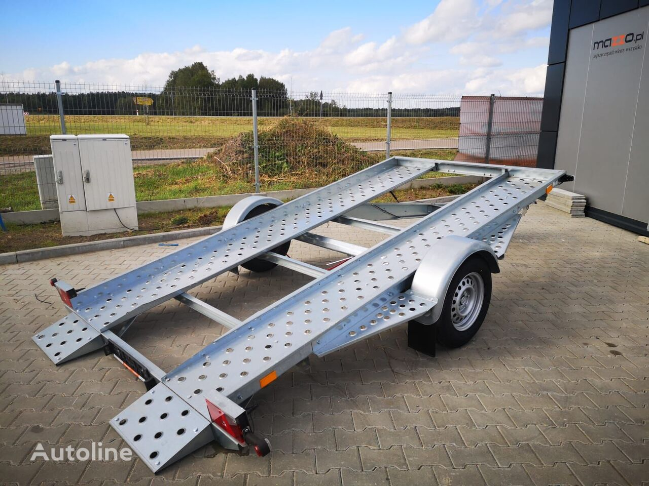 nova Mini Wenus 385x180 Car Transporter Trailer Tilt Flat bed prikolica autotransportera