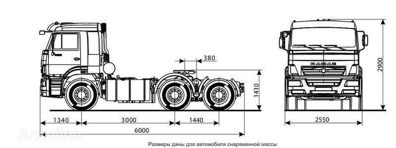 novi KAMAZ 6460 (6h4) tegljač